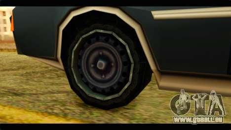 Clover Technical pour GTA San Andreas sur la vue arrière gauche
