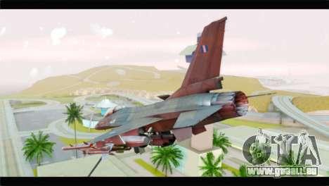 F-16C Hellenic Air Force für GTA San Andreas linke Ansicht