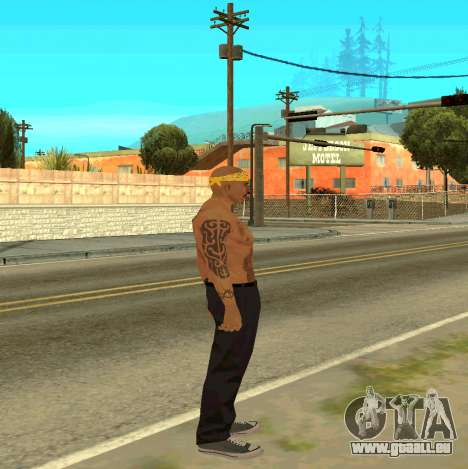 Macheter Vagos pour GTA San Andreas troisième écran
