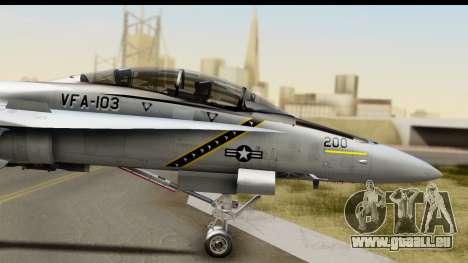 FA-18D VFA-103 Jolly Rogers pour GTA San Andreas sur la vue arrière gauche