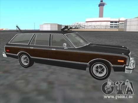 Plymouth Volare Wagon 1976 wood pour GTA San Andreas laissé vue