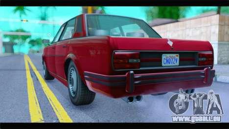 GTA 5 Benefactor Glendale Special IVF pour GTA San Andreas laissé vue