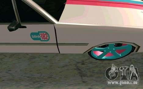 Clover Blink-182 Edition pour GTA San Andreas vue intérieure
