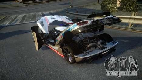 Koenigsegg Agera Polish Highway Patrol Police für GTA 4 Seitenansicht