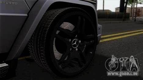 Mercedes-Benz G65 AMG Carbon Edition pour GTA San Andreas sur la vue arrière gauche