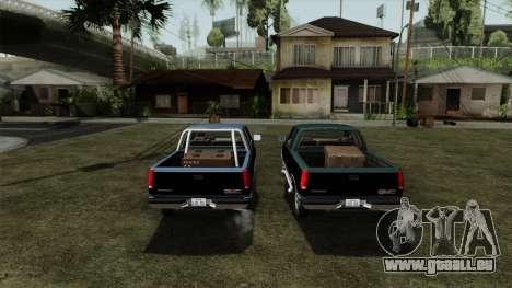 GMC Sierra 2500 1992 Extended Cab Final pour GTA San Andreas vue intérieure