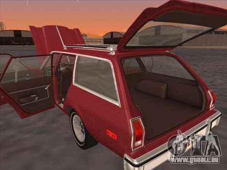 Plymouth Volare Wagon 1976 pour GTA San Andreas vue arrière