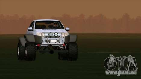VAZ 2190 Subvention pour GTA San Andreas sur la vue arrière gauche