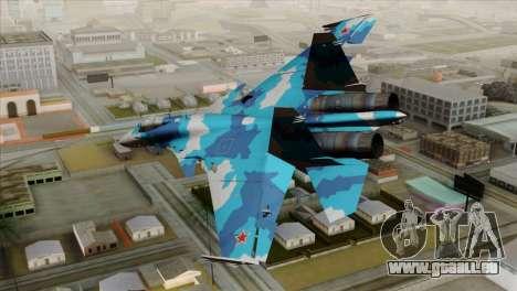 SU-33 Flanker-D Blue Camo pour GTA San Andreas laissé vue