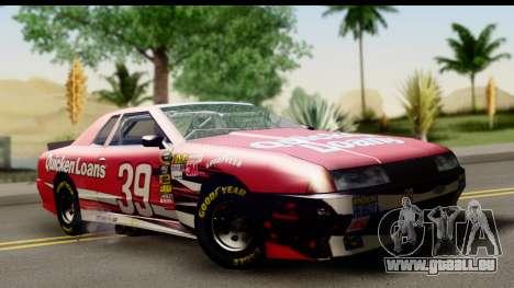Elegy NASCAR pour GTA San Andreas vue arrière