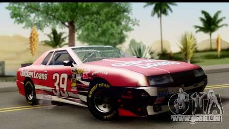 Elegy NASCAR für GTA San Andreas Rückansicht