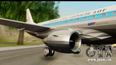 Embraer 175 PLL LOT Retro pour GTA San Andreas sur la vue arrière gauche