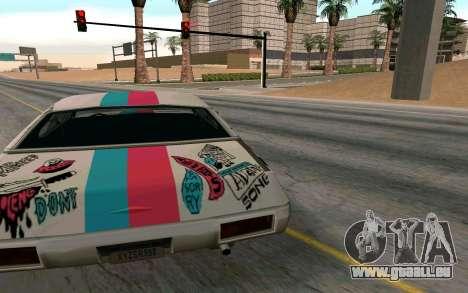 Clover Blink-182 Edition pour GTA San Andreas sur la vue arrière gauche