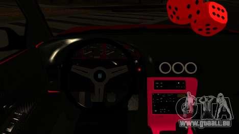 Nissan Silvia S13 Rocket Bunny pour GTA San Andreas vue intérieure