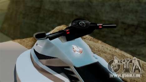 Seashark from GTA 5 pour GTA San Andreas sur la vue arrière gauche