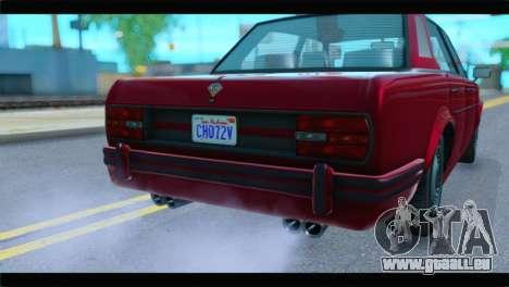 GTA 5 Benefactor Glendale Special IVF pour GTA San Andreas vue arrière