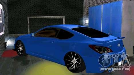 Hyundai Genesis Coupe pour GTA San Andreas vue arrière
