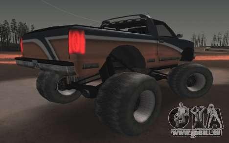 De nouvelles textures Final Monstre pour GTA San Andreas sur la vue arrière gauche