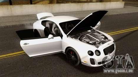 Bentley Continental SS 2010 pour GTA San Andreas vue de droite
