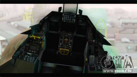 F-16A Fuerza Aerea Venezolana für GTA San Andreas Rückansicht