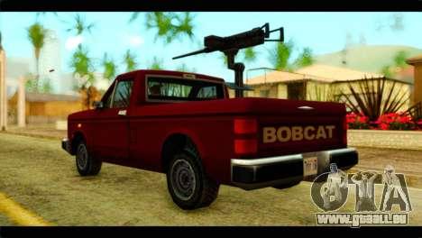 Bobcat Technical Pickup pour GTA San Andreas laissé vue