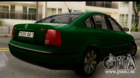 Volkswagen Passat B5 pour GTA San Andreas laissé vue