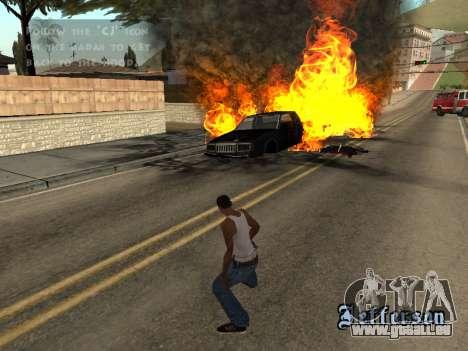 Surdosage effets (sans poussière) pour GTA San Andreas quatrième écran