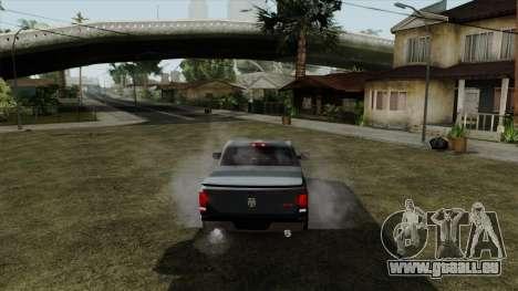 Dodge Ram QuickSilver pour GTA San Andreas sur la vue arrière gauche