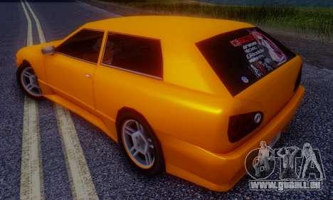 Elegy Hatchback v.1 für GTA San Andreas zurück linke Ansicht