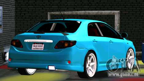 Toyota Corolla Altis pour GTA San Andreas vue intérieure