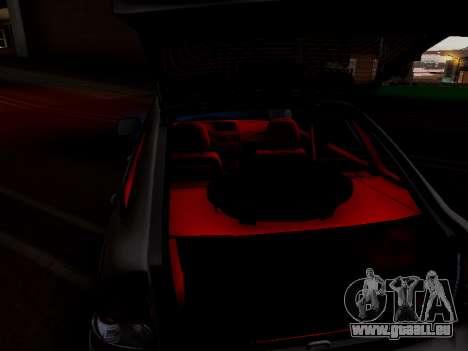 ВАЗ 2172 (Lada Priora) pour GTA San Andreas vue intérieure