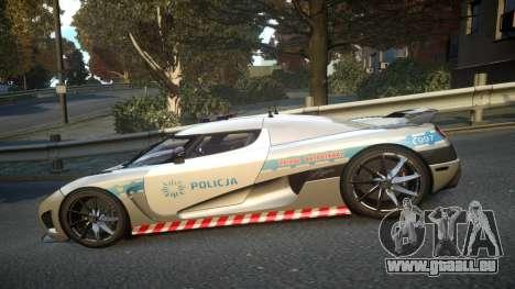 Koenigsegg Agera Polish Highway Patrol Police für GTA 4 linke Ansicht