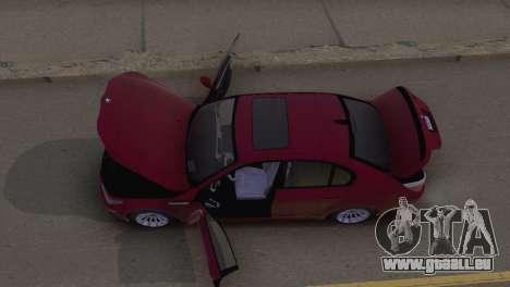 BMW M5 E60 2009 Stock für GTA San Andreas Innenansicht