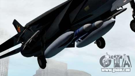 F-14 China Air Force für GTA San Andreas rechten Ansicht