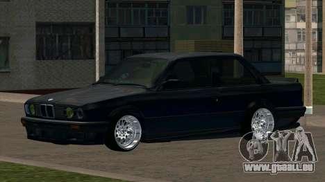 BMW M3 E30 pour GTA San Andreas vue arrière