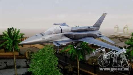 EMB F-16F Fighting Falcon US Air Force für GTA San Andreas