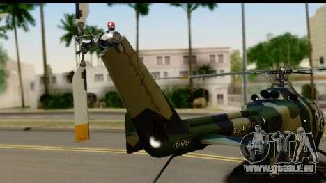 MBB Bo-105 Army für GTA San Andreas rechten Ansicht