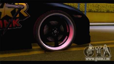 Nissan Skyline GTR Rockstar Energy für GTA San Andreas zurück linke Ansicht