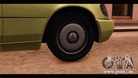 Mercedes-Benz W140 für GTA San Andreas zurück linke Ansicht