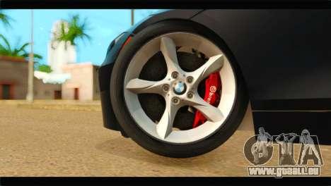 BMW Z4 sDrive35is 2011 pour GTA San Andreas sur la vue arrière gauche