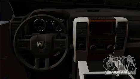 Dodge Ram QuickSilver pour GTA San Andreas vue de droite