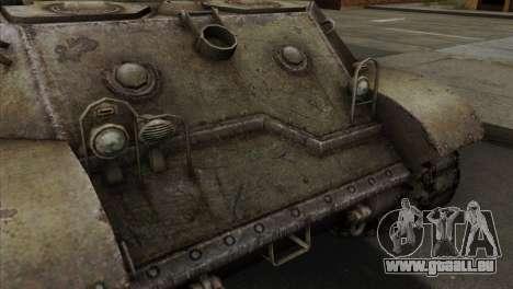 T57 Self Propelled Gun pour GTA San Andreas vue arrière