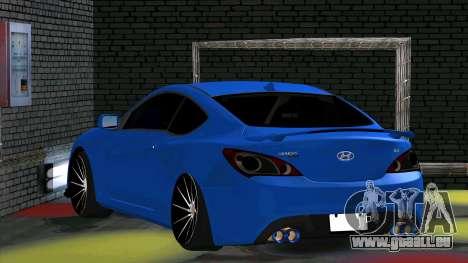 Hyundai Genesis Coupe für GTA San Andreas rechten Ansicht