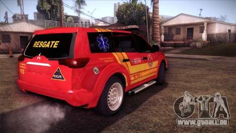 Mitsubishi Pajero Dakar 2014 CBESP pour GTA San Andreas laissé vue