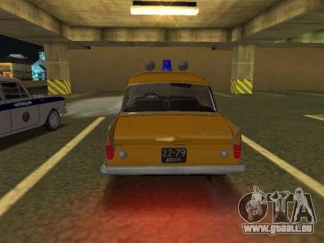 Moskwitsch 408 Polizei für GTA San Andreas rechten Ansicht