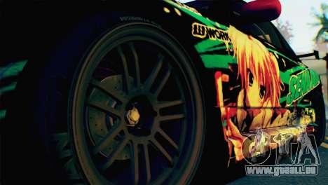 Nissan Silvia S15 Itasha für GTA San Andreas zurück linke Ansicht