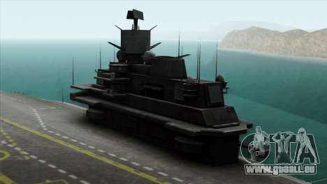 Admiral Kuznetsov Class für GTA San Andreas zurück linke Ansicht