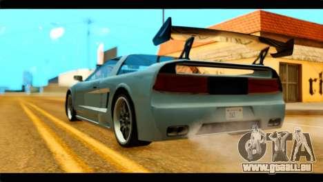 Infernus Rapide GTS Stock pour GTA San Andreas laissé vue