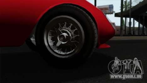 GTA 5 Grotti Stinger GT v2 IVF pour GTA San Andreas sur la vue arrière gauche