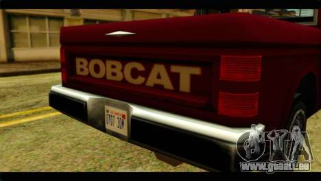 Bobcat Technical Pickup pour GTA San Andreas vue arrière